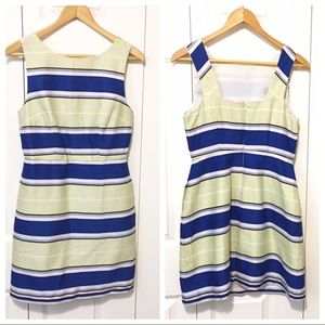 The Limited Petite Striped Sheath Dress 2P Blue